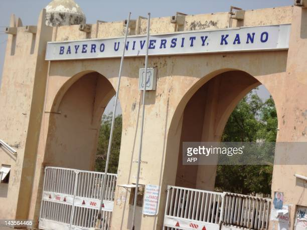 A view of the gate of Bayero University in northern Nigerian city of Kano where christian worshippers were killed and others seriously injured in...