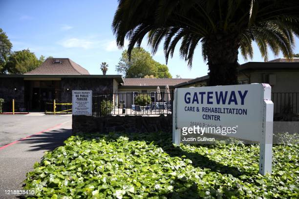 A view of the Gateway Care and Rehabilitation Center on April 14 2020 in Hayward California The Gateway Care and Rehabilitation Center remains open...