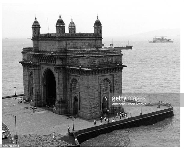 A view of the Gateway to India in Bombay India Circa 1900