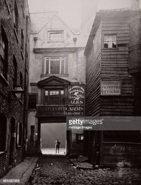 View of the gateway to the Oxford Arms Inn Warwick Lane City of London 1875