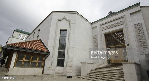 A view of the Gazi Husrev Bey library in Sarajevo Bosnia and Herzegovina on January 28 2014 Sarajevo reopens the 477year old library that contains...