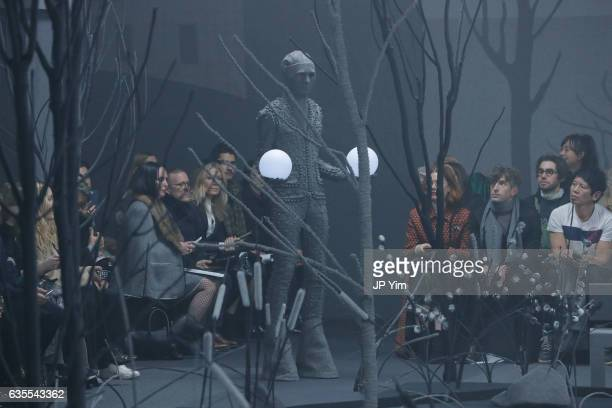 NEW A view of the general atmosphere at the Thom Browne Fall/Winter 2017 collection at Skylight Modern during New York Fashion Week on February 15...