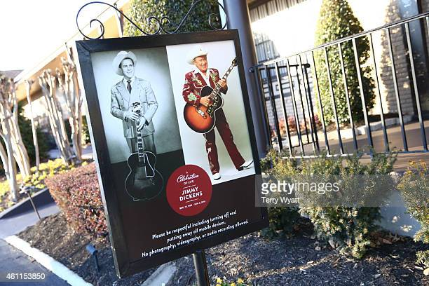A view of the general atmosphere at the visitation service for Grand Ole Opry and Country Music Hall of fame member Little Jimmy Dickens at Woodlawn...