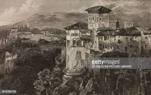 View of the Generalife Granada Spain engraving by Lemaitre from Espagne by Joseph Lavallee and Adolphe Gueroult L'Univers pittoresque published by...