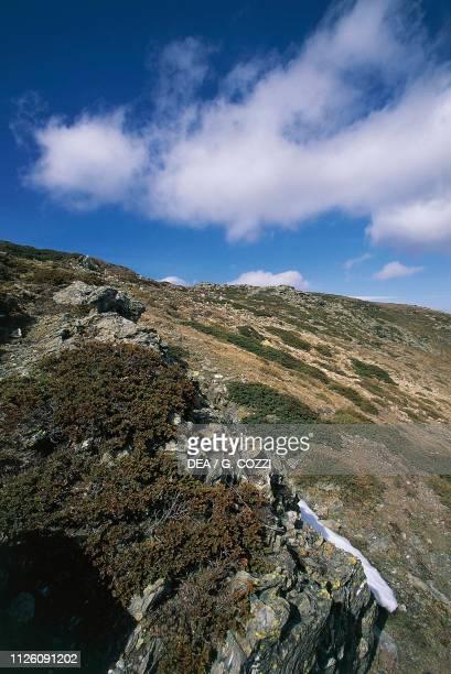 View of the Gennargentu Massif from Bruncu Spina hut Sardinia Italy