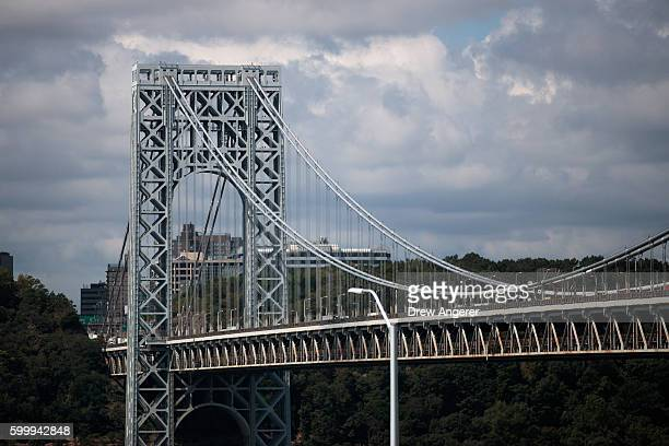 A view of the George Washington Bridge September 7 2016 in New York City Jury selection begins on Thursday for the New Jersey 'Bridgegate' trial Two...