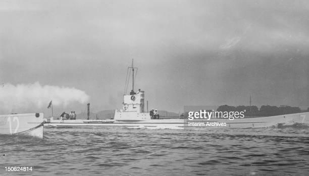 View of the German submarine U7 at sea early twentieth century