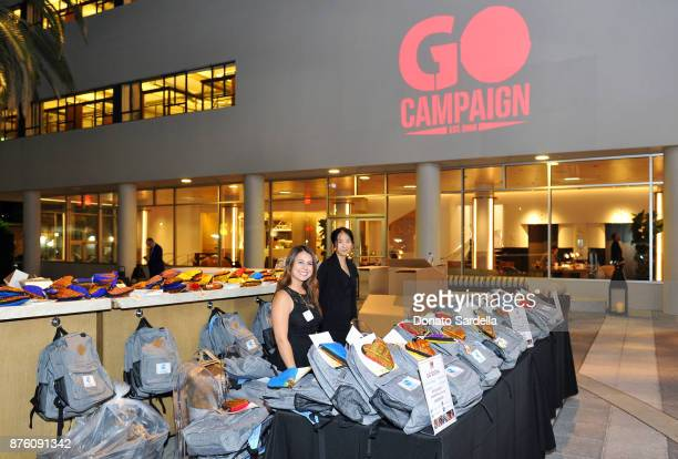 A view of the gift bags during the 2017 GO Campaign Gala at NeueHouse Los Angeles on November 18 2017 in Hollywood California