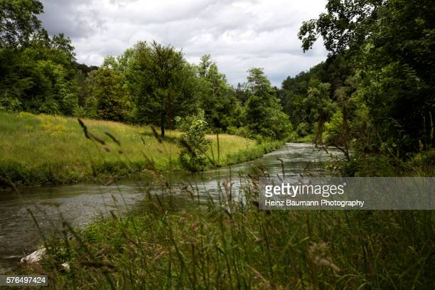 View of the Glatt Valley with river Glatt, canton Zurich, Switzerland