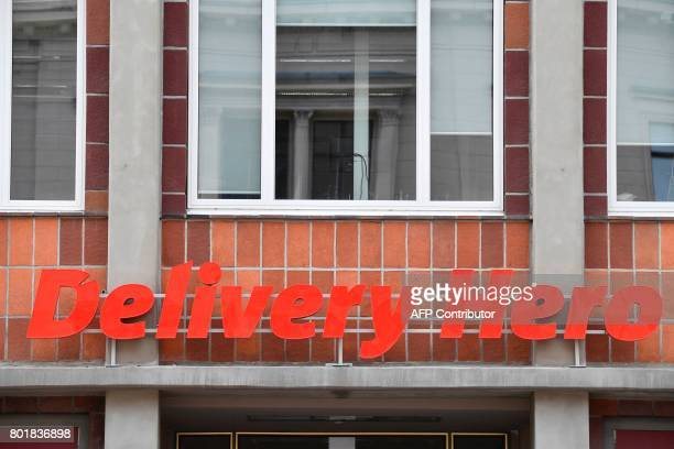 A view of the global headquarters of online food ordering and delivery giant Delivery Hero is pictured in Berlin on June 27 2017 Germanybased online...