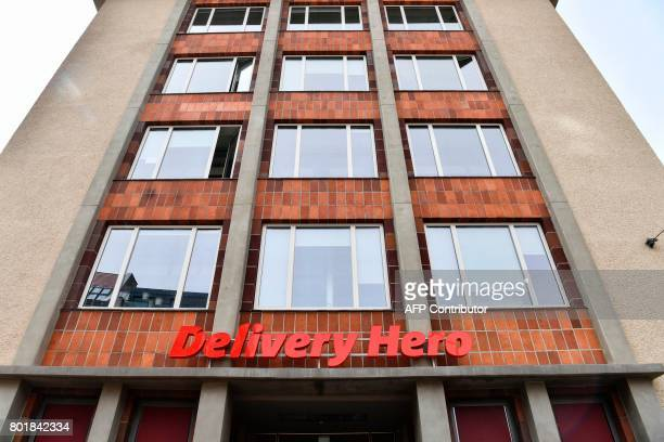 View of the global headquarters of online food ordering and delivery giant Delivery Hero in Berlin on June 27 2017 Germanybased online food ordering...