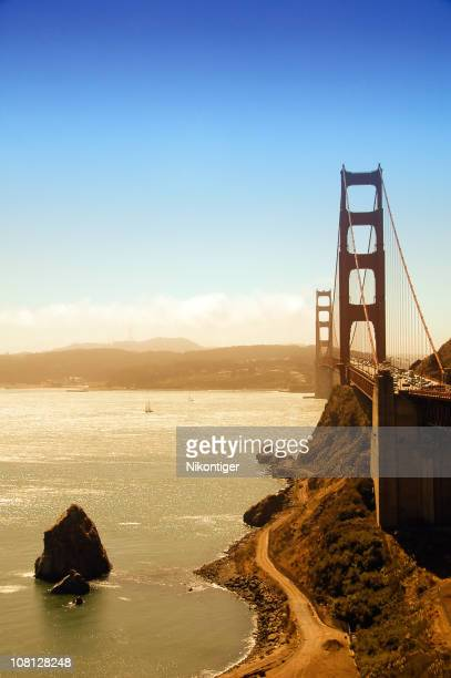 View of the Golden Gate Bridge and the San Francisco Bay