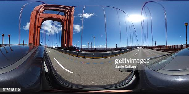 A 360 view of the Golden Gate Bridge on March 28 2016 in San Francisco California