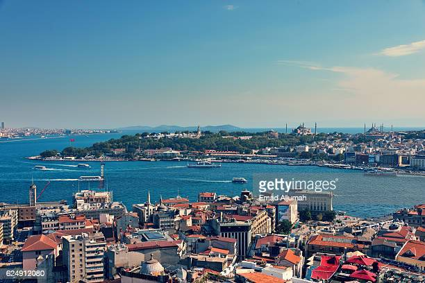 View of the Golden Horn from Fatih district, Istanbul, Turkey