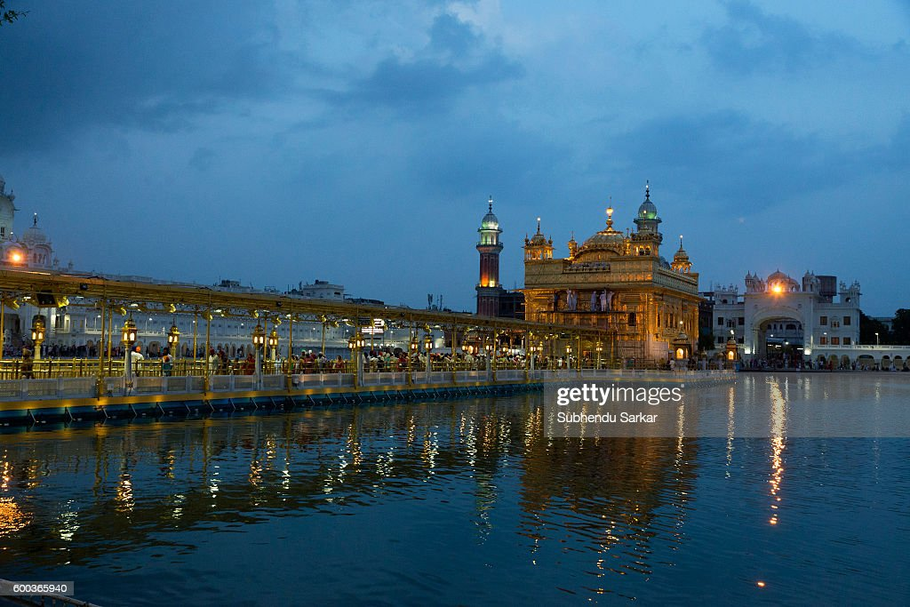 A view of the Golden Temple after dark Sri Harmandir Sahib or Sri Darbar Sahib or the `Golden Temple` is the holiest temple of Sikhism