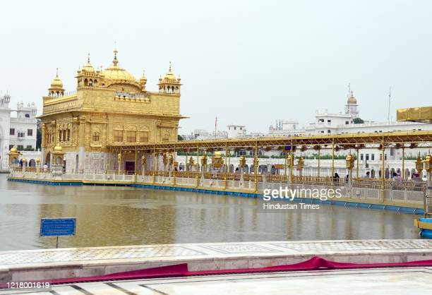 View of the Golden Temple on the 36th anniversary of Operation Blue Star, on June 6, 2020 in Amritsar, India.