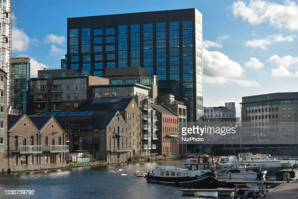 View of the Google EMEA HQ building in the western part of the Grand Canal Docks in Dublin, seen during Level 5 Covid-19 lockdown. On Friday, 22...