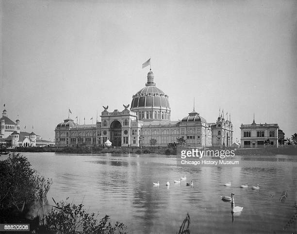 View of the Government Building from the Wooded Island during Chicago's World's Columbian Exposition or World's Fair 1893