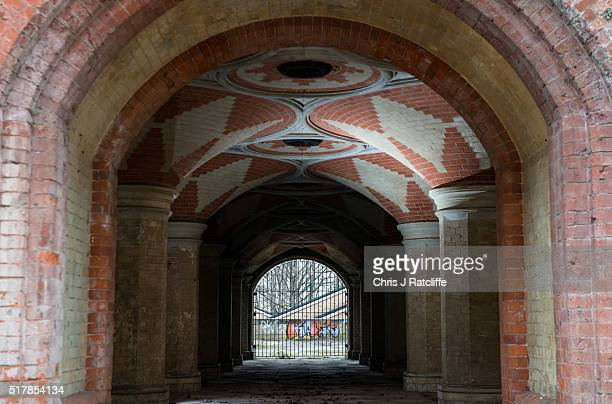 A view of the Grade II listed Victorian Crystal Palace Subway that is hidden under the A212 road at Crystal Palace on March 23 2016 in London England...