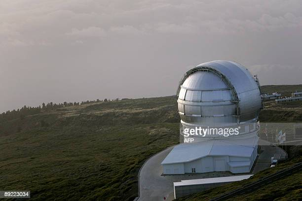 View of the Gran Telescopio Canarias the world's largest infrared telescope taken at the Roque de los Muchachos Observatory in the Canary Island of...
