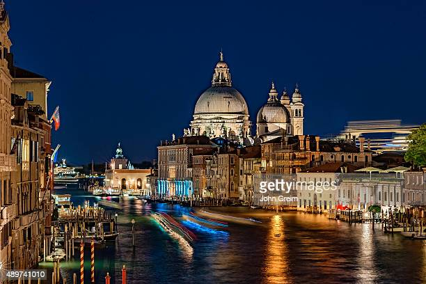 View of the Grand Canal at night