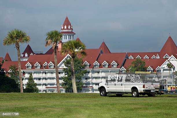 A view of the Grand Floridian hotel June 15 2016 in Orlando Florida where a twoyearold boy was attacked by an alligator at the Seven Seas Lagoon near...