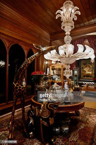 A view of the grandiloquent foyer at Sabyasachi Jewelry Indian couturier and jewelry designer Sabyasachi's first flagship jewelry store in the...