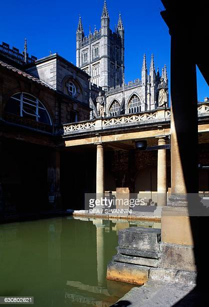 View of the Great Bath of the Roman Baths Roman Baths Museum Bath Somerset England United Kingdom 1st5th century AD