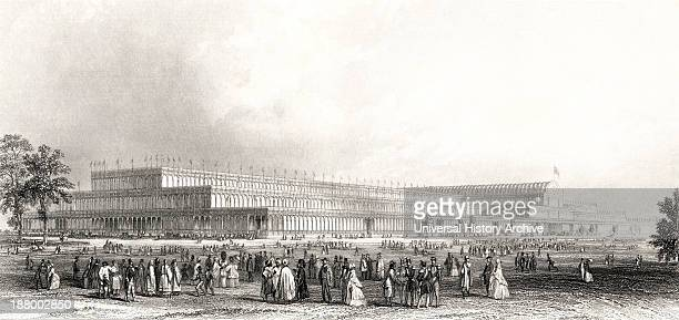 A View Of The Great Exhibition Of The Works Of Industry Of All Nations In Hyde Park London England 1851 From Cyclopaedia Of Useful Arts And...