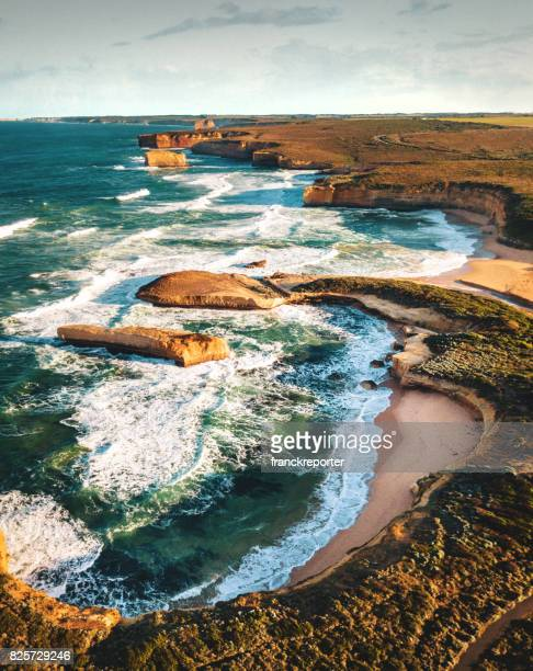 view of the great ocean road coastline in south australia - south australia stock pictures, royalty-free photos & images