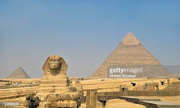 CONTENT] A view of The Great Pyramid of Khufu with the Sphinx in the foreground The pyramid is the oldest and largest of the three pyramids an the...