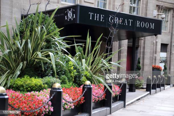 View of the Great Room at Grosvenor House in Park Lane. Many of London's 5 star Luxury Hotels which are world renowned are still closed, despite the...