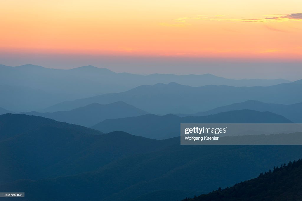 View of the Great Smoky Mountains National Park in North... : News Photo
