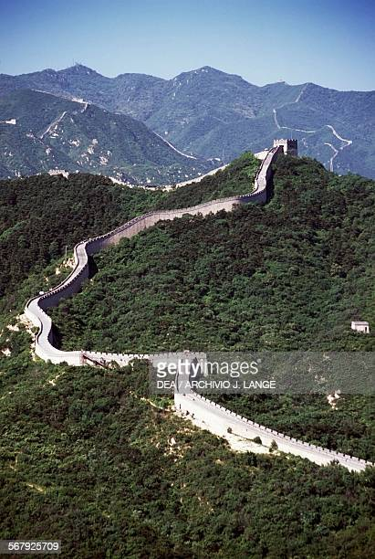 View of the Great Wall near Badaling Beijing China