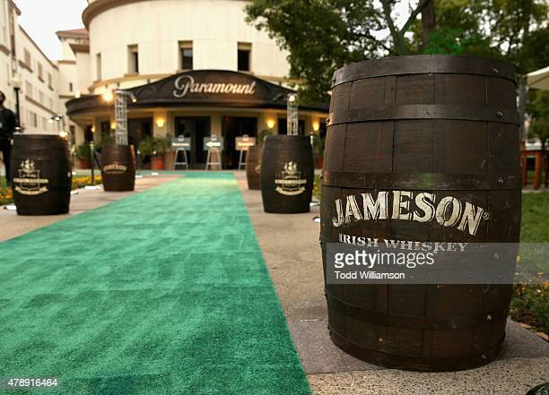 A view of the green carpet at the Jameson First Shot screening party at Paramount Studios on on June 27 2015 in Hollywood California
