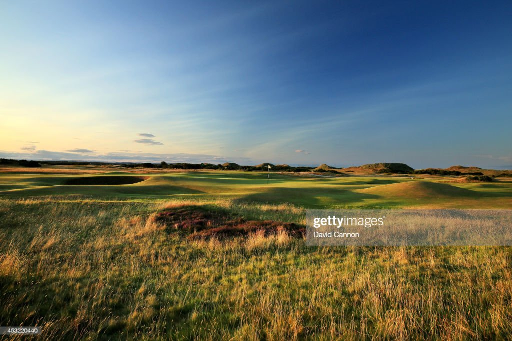A view of the green from the rough short left of the green on the par 4, 4th hole 'Ginger Beer' on the Old Course at St Andrews venue for The Open Championship in 2015, on July 29, 2014 in St Andrews, Scotland.