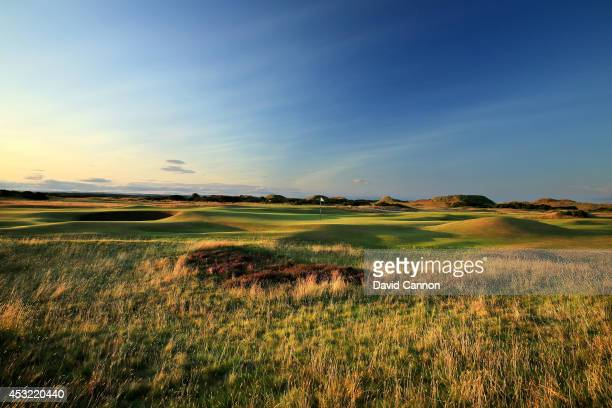 View of the green from the rough short left of the green on the par 4, 4th hole 'Ginger Beer' on the Old Course at St Andrews venue for The Open...