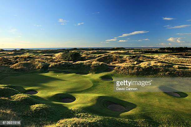 A view of the green on the 421 yards par 4 second hole at Royal Birkdale Golf Club the host course for the 2017 Open Championship on October 10 2016...