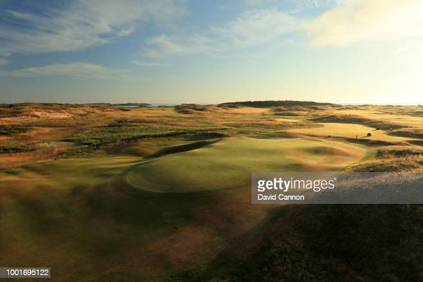 A view of the green on the 470 yards par 4 14th hole 'Causeway' on the Dunluce Links at Royal Portrush Golf Club the venue for The Open Championship...