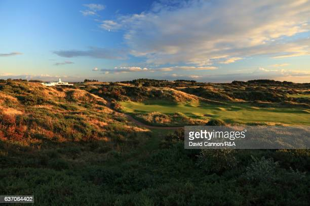 A view of the green on the 499 yards par 4 13th hole at Royal Birkdale Golf Club the host course for the 2017 Open Championship on October 10 2016 in...
