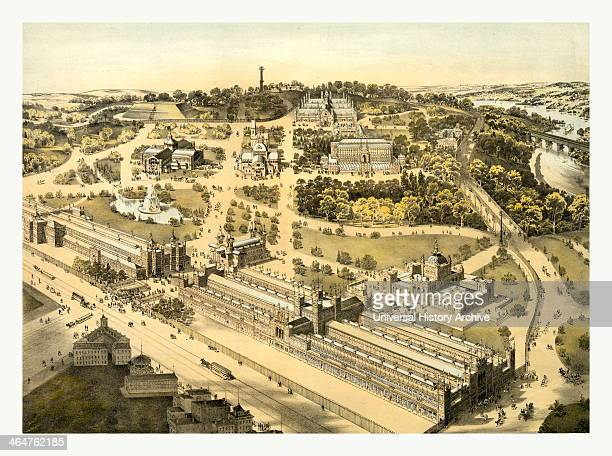 View Of The Ground And Buildings International Exhibition Fairmount Park Philadelphia By Al Weise Lith Circa 1876 Us USA America