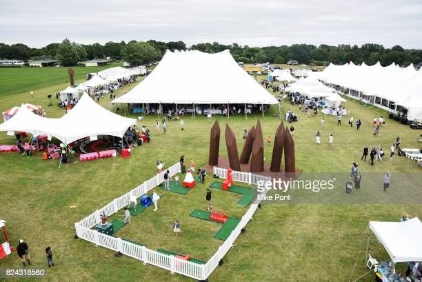 View of the grounds during OCRFA's 20th Annual Super Saturday to Benefit Ovarian Cancer on July 29 2017 in Watermill New York