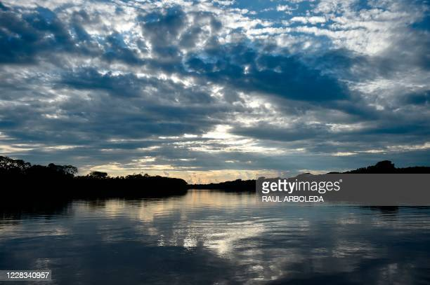View of the Guayabero river in Guaviare department, Colombia on September 2, 2020.