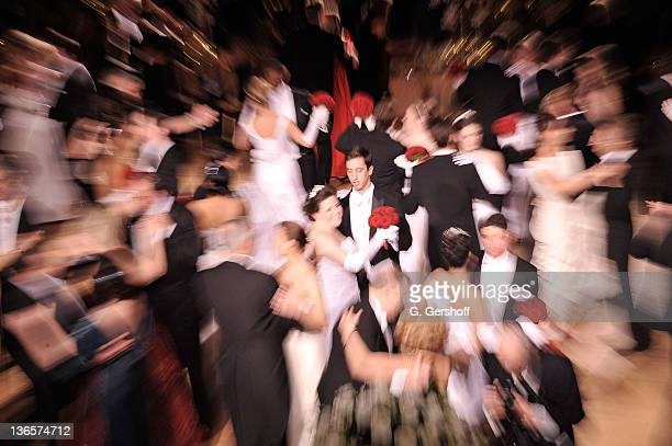 View of the guests dancing at the 56th annual Viennese Opera Ball at The Waldorf=Astoria on February 4, 2011 in New York City.