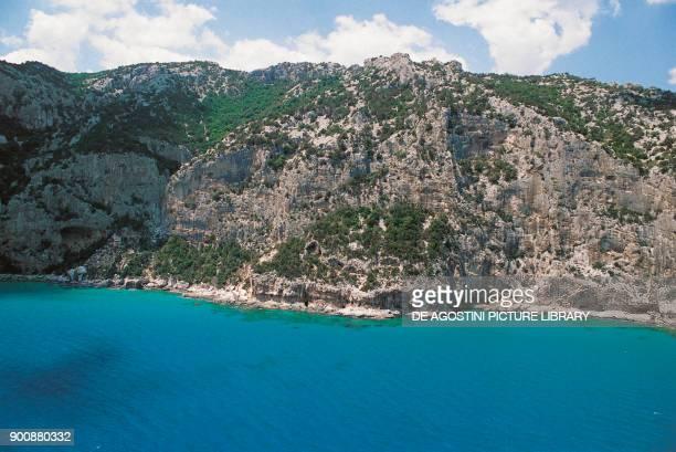 View of the Gulf of Orosei Gulf of Orosei and Gennargentu National Park Sardinia Italy