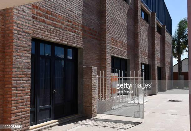 View of the gymnasium of San Martin de Progreso ahead of Emiliano Sala's wake on February 15 2019 in Progreso Argentina 28yearold striker was killed...