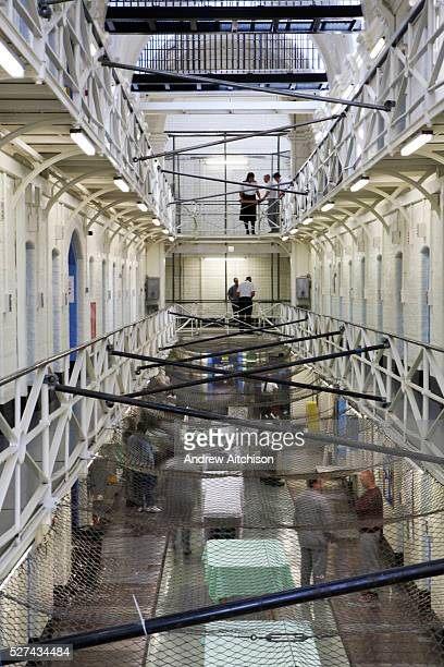 A view of the H wing in the Onslow building at Wandsworth prison HMP Wandsworth in South West London was built in 1851 and is one of the largest...