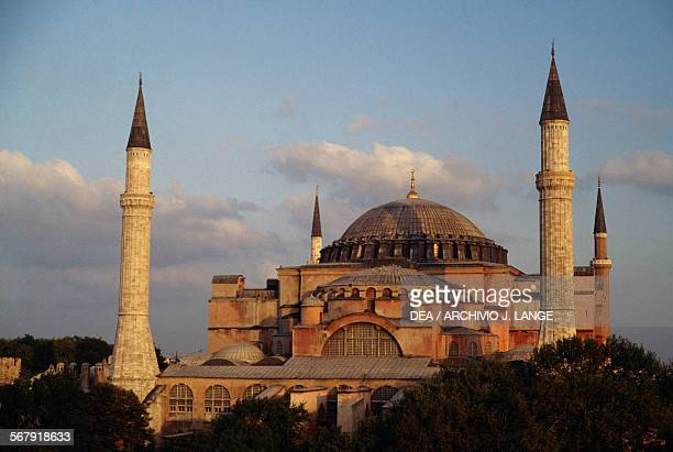 View of the Hagia Sophia Istanbul Turkey 6th century