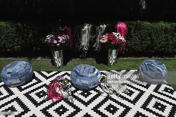 A view of the hair braid area during the People StyleWatch REVOLVE Fashion and Festival Event at Avalon Palm Springs on April 11 2015 in Palm Springs...