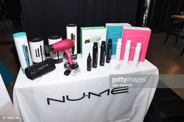 View of the hair products backstage for Badgley Mischka during New York Fashion Week: The Shows at Gallery I at Spring Studios on February 13, 2018...